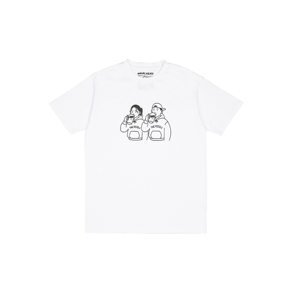 BEER COUPLE TEE [WHITE]