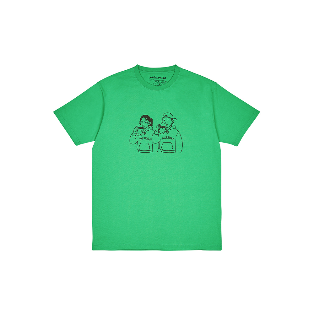 BEER COUPLE TEE [CLOVER GREEN]