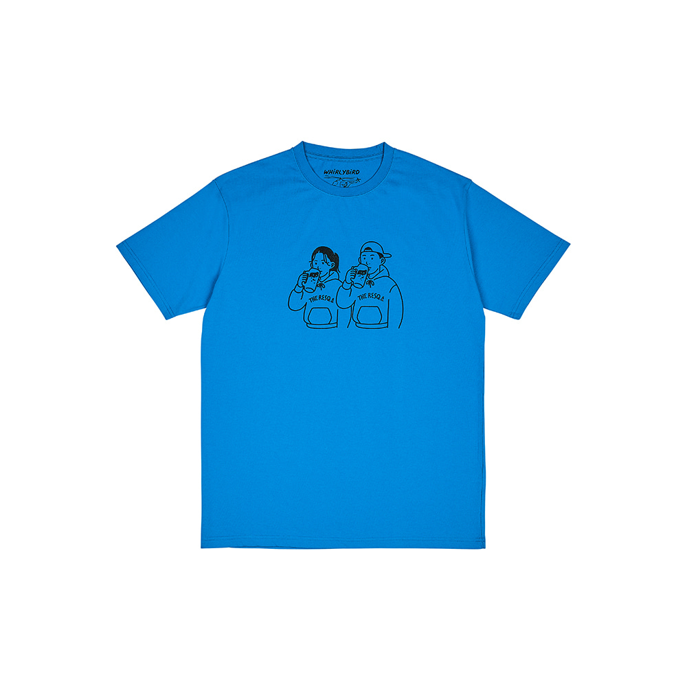 BEER COUPLE TEE [OCEAN BLUE]