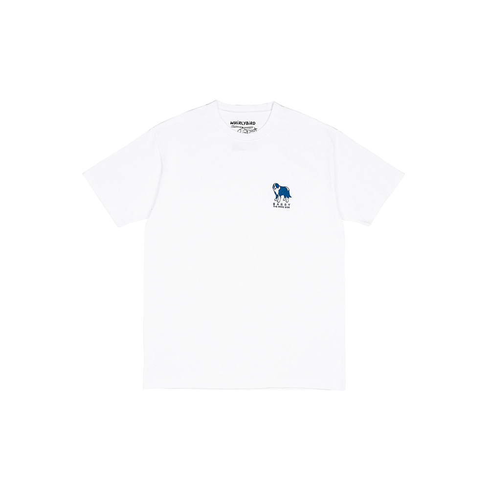 RESQ DOG BARRY TEE [WHITE]